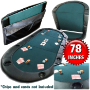 3. Texas Holdem Poker Folding Tabletop with Cupholders