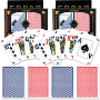 4. Copag™ Poker Size PEEK Index - Blue/Red Set of 2