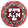 7. Texas A&M University Neon Clock