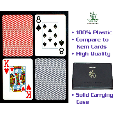 Copag™ Poker Size JUMBO Index - Blue *Red Export Setup