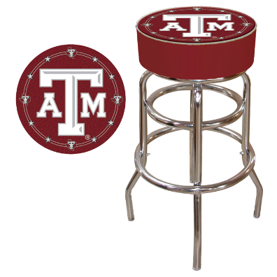 Texas A & M University Padded Bar Stool