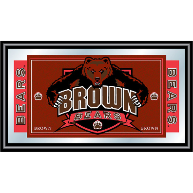 Brown University Logo and Mascot Framed Mirror