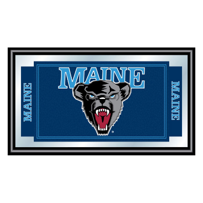 University of Maine Logo and Mascot Framed Mirror