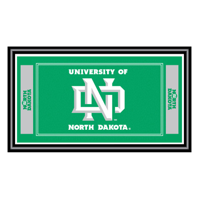 University of North Dakota Logo and Mascot Framed Mirror