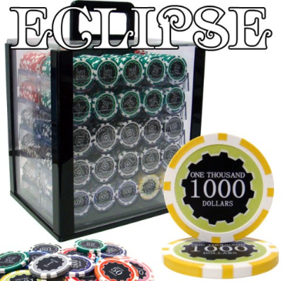 1,000 Ct Custom Breakout Eclipse 14 Gram Chip Set - Acrylic