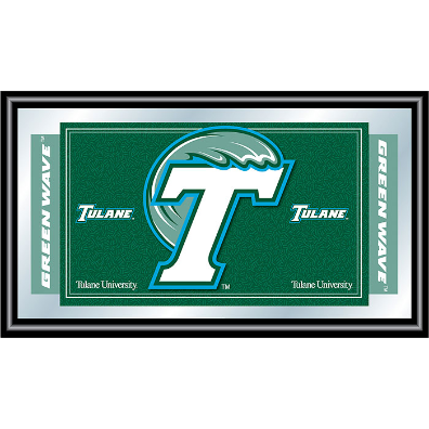 Tulane University Logo and Mascot Framed Mirror