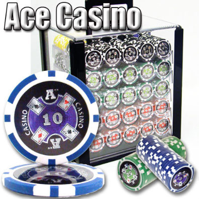 1,000 Ct - Pre-Packaged - Ace Casino 14 Gram - Acrylic