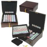 750 HIGH ROLLER Poker Chip Set Polished Lacquer Finish Case