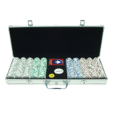 2.2 500 11.5g 4 Aces Poker Chip Set w/Aluminum Case