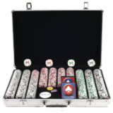 650 11.5g 4 Aces Poker Chip Set w/Executive Aluminum Case