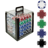1000 11.5G Holdem Poker Chip Set w/Acrylic Carrier