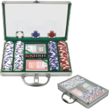 200 11.5G Holdem Poker Chip Set w/Clear Cover Aluminum Case