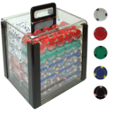 1000 13 Gram Pro  Poker Chips in Acrylic Carrier