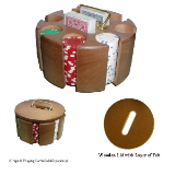 Solid Wood Poker Chip Carousel
