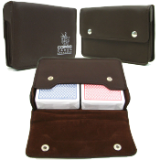 Copag™ High Quality Leather Two Deck Playing Card Case