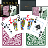 Copag™ Poker Size JUMBO Index - Green*Burgundy Setup