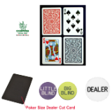 Copag™ BLK Poker Size PLASTIC Playing Cards & Dealer Kit