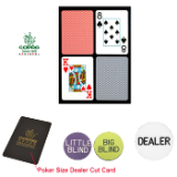 Copag™ Poker Size PLASTIC Playing Cards & Dealer Kit