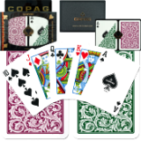Copag™ Poker Size REGULAR Index - Green*Burgundy Setup