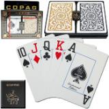 Copag™ Poker JUMBO Index - 1546 Black/Gold Set of 2