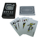 One Blue Deck- Royal Plastic Playing Cards w/Star Pattern