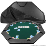 52 x 52 inch Octagon Padded Poker Tabletop Green