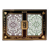 Kem Jacquard Burgundy/Green Wide Regular