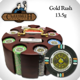 "200 Ct Claysmith ""Gold Rush"" Chip set in Carousel"