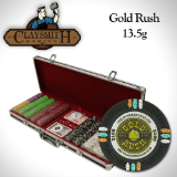 500Ct Claysmith Gold Rush Chip Set in Black Aluminum Case