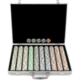 1000 11.5g 4 Aces Poker Chip Set w/Aluminum Case