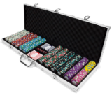 600ct Claysmith Gaming Showdown Chip Set in Aluminum Case