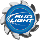Bud Light Spinner Card Cover - Silver