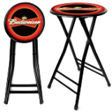 Budweiser 24 Inch Cushioned Folding Stool