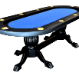 The Elite Poker Table with blue speed cloth