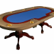 The Premier Poker Table - blue felt