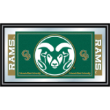 Colorado State University Logo and Mascot Framed Mirror