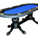 The Elite Poker Table with standard blue cloth
