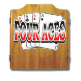 Four Aces Dart Cabinet includes Darts and Board