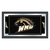Western Michigan University Logo and Mascot Framed Mirror