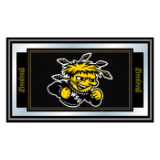 Wichita State University Logo and Mascot Framed Mirror