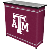 6. Texas A&M University™ 2 Shelf Portable Bar w/ Case