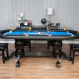 The Elite Poker Table with 6 dining chairs