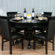 The Nighthawk - 8 Player Round Table - with 4 Premium chairs and dining top