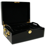 500 Ct Black Mahogany Wooden Case