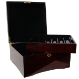 750 Ct Glossy Wooden Mahogany Case