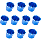 10 Vivid Blue Aluminum Cup Holders