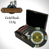 "500Ct Claysmith Gaming ""Gold Rush"" Chip Set in Mahogany Case"