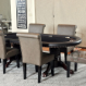 The Premier Poker Table shown here with 6 leather upholstered chairs.