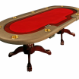 The Premier Poker Table - red felt