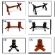 The Elite Poker Table Leg Choices